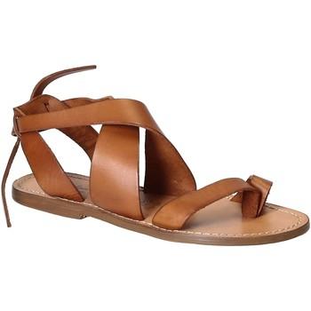 Schuhe Damen Sandalen / Sandaletten Gianluca - L'artigiano Del Cuoio 571 D CUOIO CUOIO Cuoio