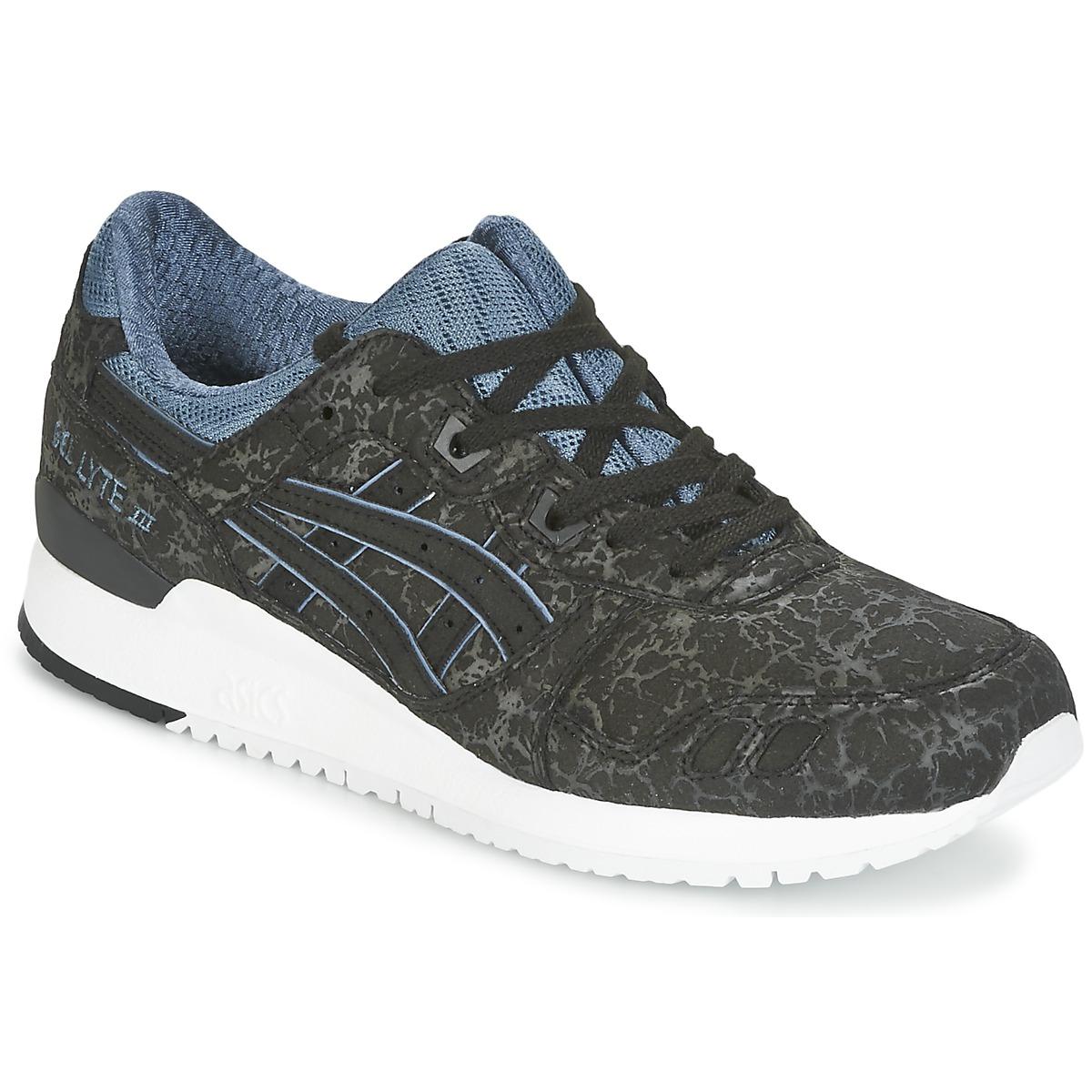 Asics GEL-LYTE III Schwarz / Blau - Kostenloser Versand bei Spartoode ! - Schuhe Sneaker Low  75,00 €