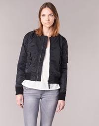 Kleidung Damen Jacken Schott BOMBER BY SCHOTT Schwarz