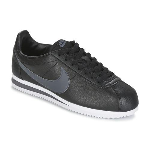 Nike CLASSIC CORTEZ LEATHER Schwarz / Grau