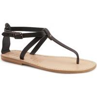 Schuhe Damen Sandalen / Sandaletten Gianluca - L'artigiano Del Cuoio 582 D NERO LGT-CUOIO nero
