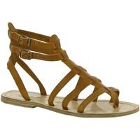 Schuhe Damen Sandalen / Sandaletten Gianluca - L'artigiano Del Cuoio 506 D CUOIO LGT-CUOIO Cuoio