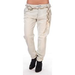 Kleidung Damen 5-Pocket-Hosen Rich & Royal Rich&royal Pantalon Amalfi 05Q990 Beige