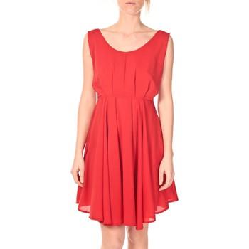Kleidung Damen Kurze Kleider Aggabarti Aggarbati Robe Bretelles 121084 Cerise Rot