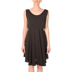 Kleidung Damen Kurze Kleider Aggabarti Aggarbati Robe Bretelles 121084 Noir Schwarz