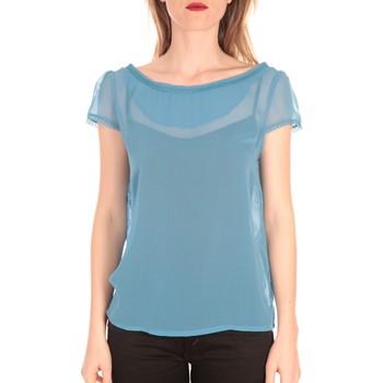 Kleidung Damen T-Shirts Aggabarti t-shirt voile121072 bleu Blau
