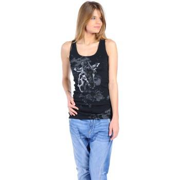 Kleidung Damen Tops Rich & Royal T-shirt 11q436 Noir Schwarz