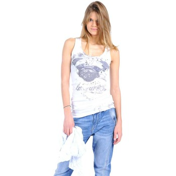 Kleidung Damen Tops Rich & Royal Débardeur 11q435 Blanc Weiss