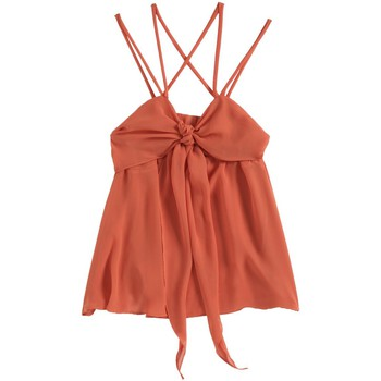 Kleidung Damen Tops Aggabarti Top 121068 Orange Orange
