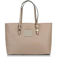 Taschen Damen Shopper / Einkaufstasche Thierry Mugler Cabas Eclat 5 Taupe Braun