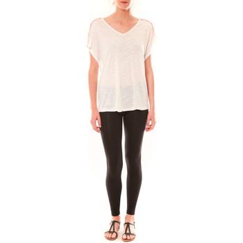 Kleidung Damen T-Shirts Dress Code Top M-9388  Blanc Weiss