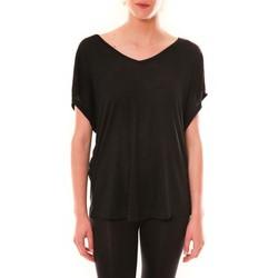Kleidung Damen T-Shirts Dress Code Top M-9388  Noir Schwarz