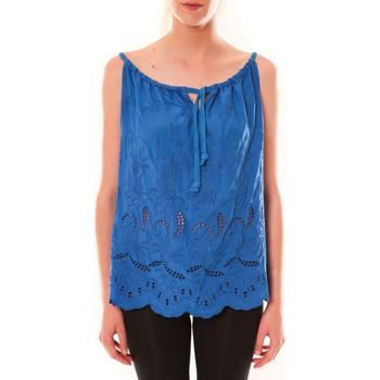 Kleidung Damen Tops Dress Code Debardeur HS-1019  Bleu Blau