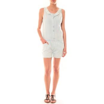 Kleidung Damen Overalls / Latzhosen Dress Code Combinaison F258  Denim Clair Blau