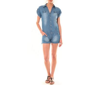 Kleidung Damen Overalls / Latzhosen Dress Code Combinaison F259  Denim Blau