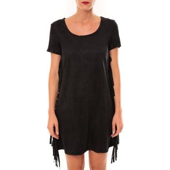 Kleidung Damen Kurze Kleider De Fil En Aiguille Robe MA8495 noir Schwarz