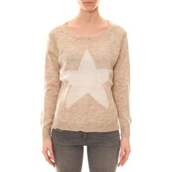 Kleidung Damen Pullover De Fil En Aiguille Pull Ym 19 Beige Beige