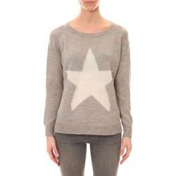 Kleidung Damen Pullover De Fil En Aiguille Pull Ym19 Gris Grau
