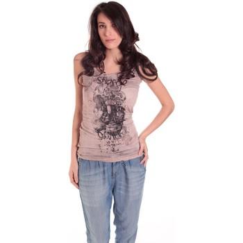 Kleidung Damen Tops Rich & Royal DEBARDEUR CRASH 11Q415 TAUPE Braun