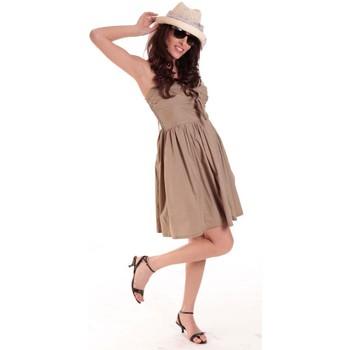 Kleidung Damen Kurze Kleider Aggabarti ROBE NOEUD 111029 BEIGE Beige