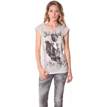 Kleidung Damen T-Shirts Rich & Royal Tee-shirt Little 13q430 Ecru Beige