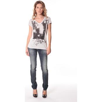 Kleidung Damen T-Shirts Rich & Royal Tee-shirt Kate 13q431 Ecru Beige