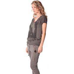 Kleidung Damen T-Shirts Rich & Royal Tee-shirt Kate 13q431 Carbone Grau