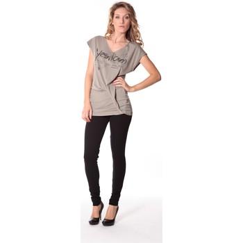 Kleidung Damen T-Shirts Rich & Royal Tee-shirt Yes 13q424 Gris Grau
