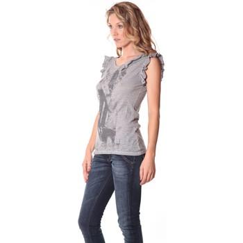 Kleidung Damen Tops Rich & Royal Rich&Royal Tee shirt Glam Gris 13q427/862 Grau