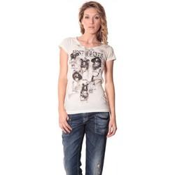 Kleidung Damen T-Shirts Rich & Royal Rich&Royal Tee shirt Visages Ecru13q465 Beige