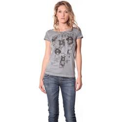 Kleidung Damen T-Shirts Rich & Royal Rich&Royal Tee shirt Visages Gris 13q465 Grau
