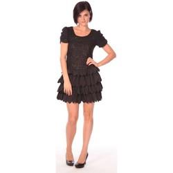 Kleidung Damen Kurze Kleider Aggabarti Robe Dora 112009 Schwarz