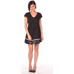 Kleidung Damen Kurze Kleider Aggabarti Robe Nancy 112011 Schwarz
