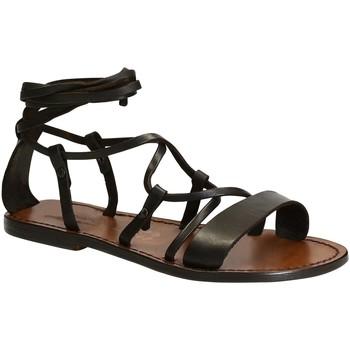 Schuhe Damen Sandalen / Sandaletten Gianluca - L'artigiano Del Cuoio 519 D MORO CUOIO Testa di Moro