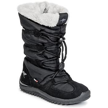 Schuhe Damen Schneestiefel Kangaroos PUFFY III JUNIOR Schwarz