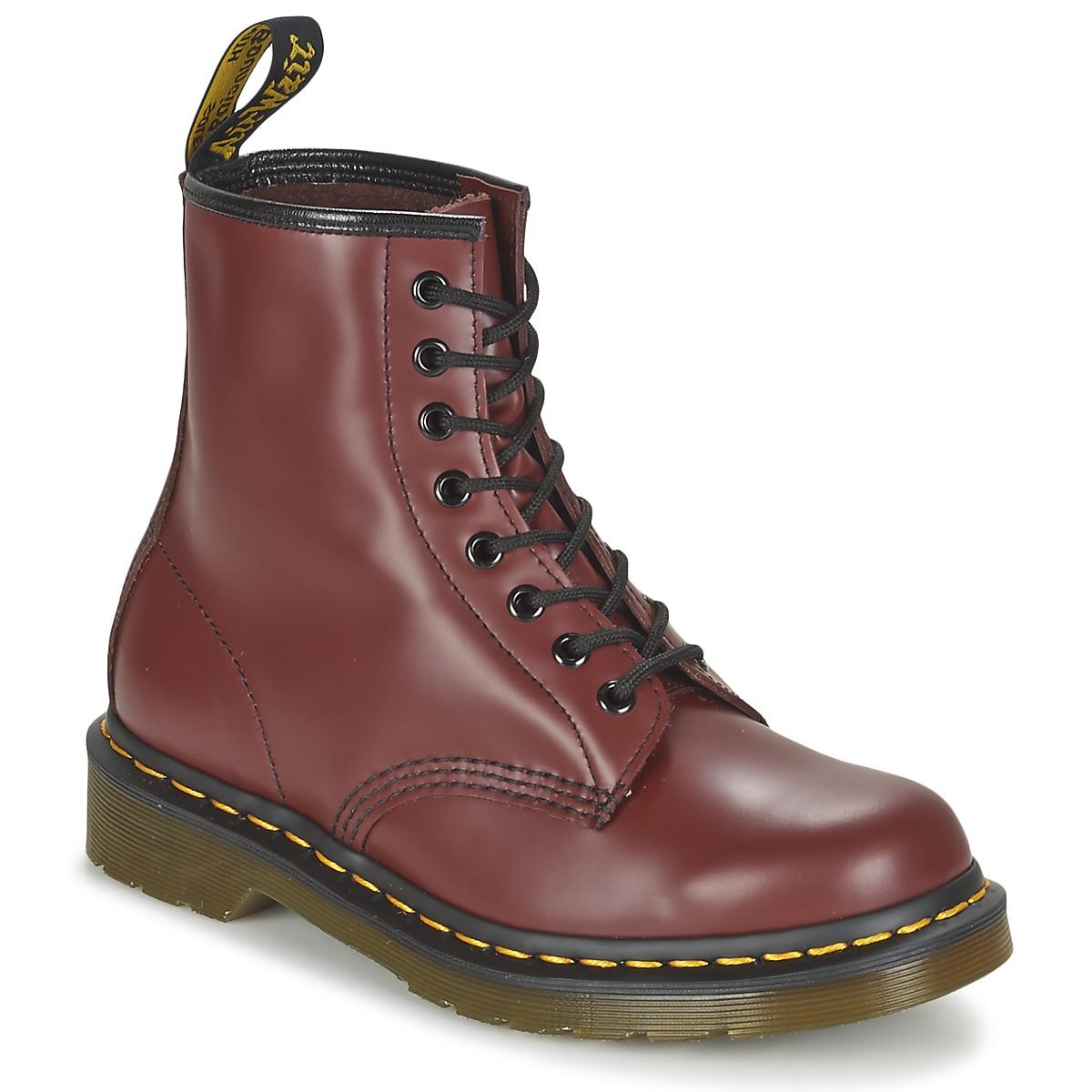 Dr Martens 1460 Rot - Kostenloser Versand bei Spartoode ! - Schuhe Boots  135,20 €