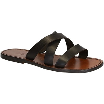 Schuhe Herren Pantoffel Gianluca - L'artigiano Del Cuoio 546 U MORO CUOIO Testa di Moro