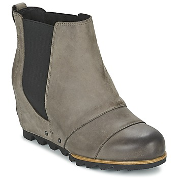 Schuhe Damen Low Boots Sorel LEA WEDGE Grau