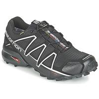 Schuhe Herren Laufschuhe Salomon SPEEDCROSS 4 GTX® Schwarz / Silbern