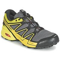 Schuhe Herren Laufschuhe Salomon SPEEDCROSS VARIO GTX® Grau / Grün / Gelb