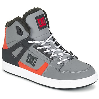 Schuhe Kinder Sneaker High DC Shoes REBOUND WNT B SHOE XSKN Grau / Schwarz / Orange