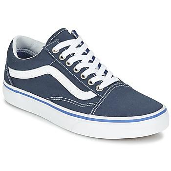 Schuhe Sneaker Low Vans OLD SKOOL Marine / Weiss