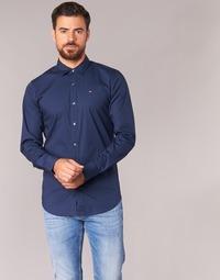 Kleidung Herren Langärmelige Hemden Tommy Jeans KANTERMI Marine