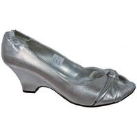 Schuhe Damen Pumps Keys ElastischeGewebeplateauschuhe Silbern