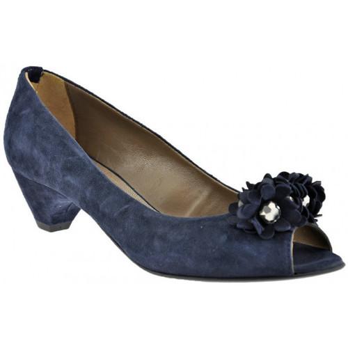 Schuhe Damen Pumps Progetto Ballerina-Absatz-Pumpen-40plateauschuhe Blau