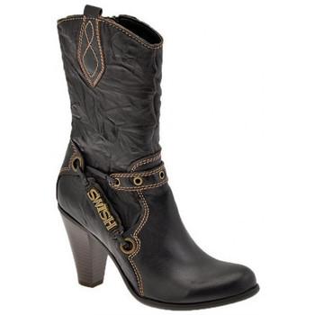 Schuhe Damen Low Boots Swish Texan Heel 100 halbstiefel