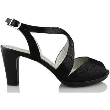 Schuhe Damen Pumps Montesinos CAVIAR SCHWARZ