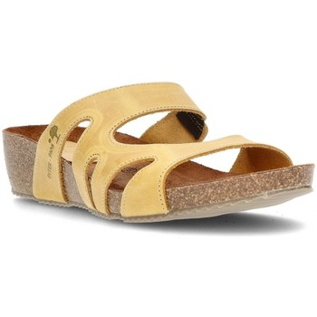 Schuhe Damen Pantoffel Interbios W GELB