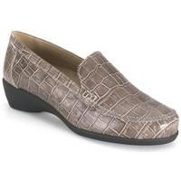Schuhe Damen Slipper Calzamedi orthopädischen taupe Mokassin BROWN