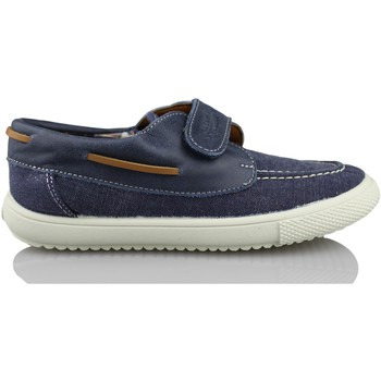 Schuhe Jungen Bootsschuhe Vulladi NAUTICAL  CANVAS VELCRO BLAU